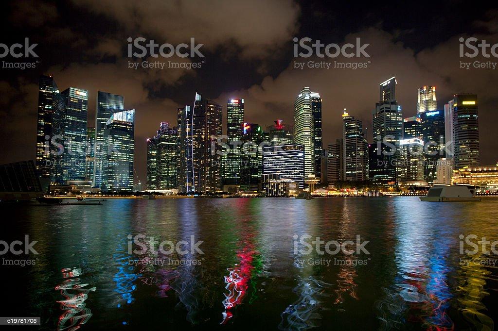 Singapore business district stock photo