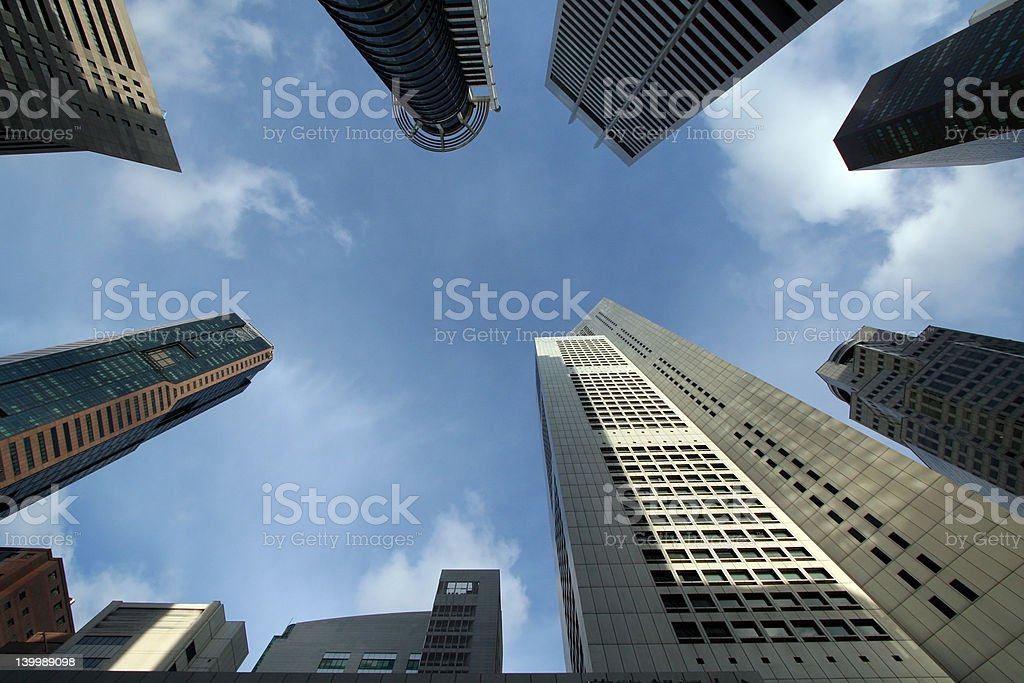 Singapore Business Office City Towers royalty-free stock photo