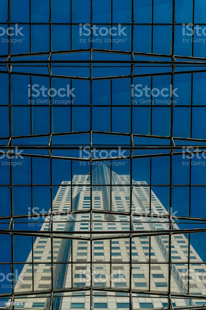 Singapore Central Business District Office Tower Skyscrapers royalty-free stock photo
