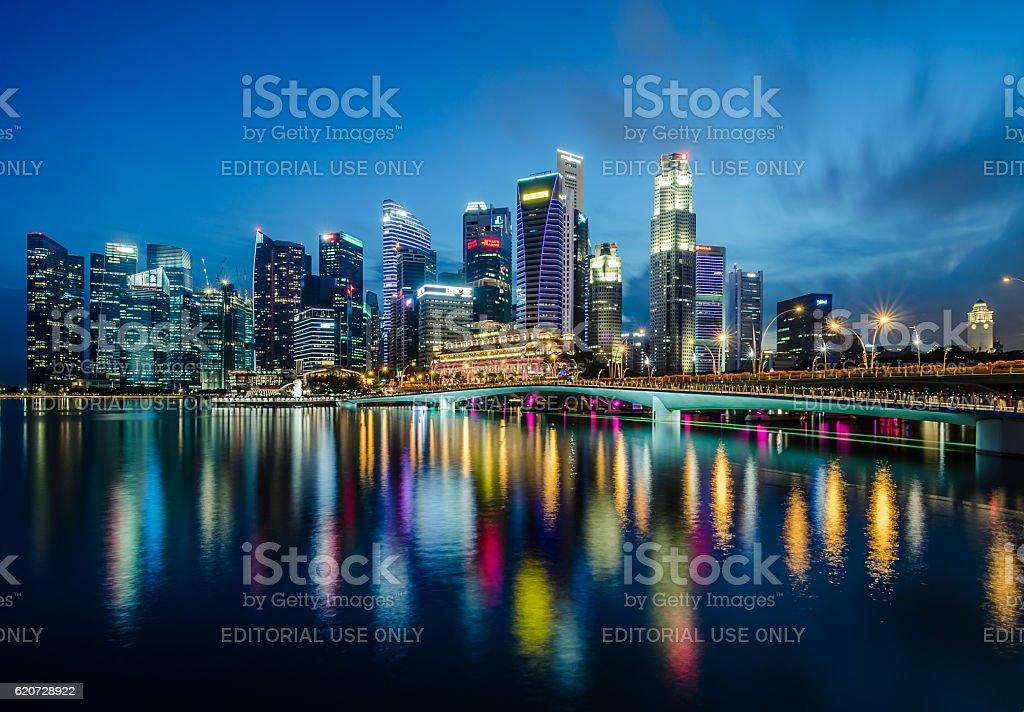 Центральный деловой район Сингапура  Стоковые фото Стоковая фотография