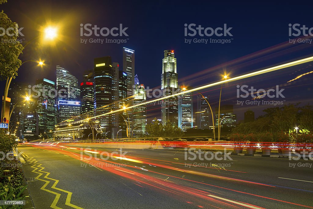 Singapore Central Business District Skyline royalty-free stock photo