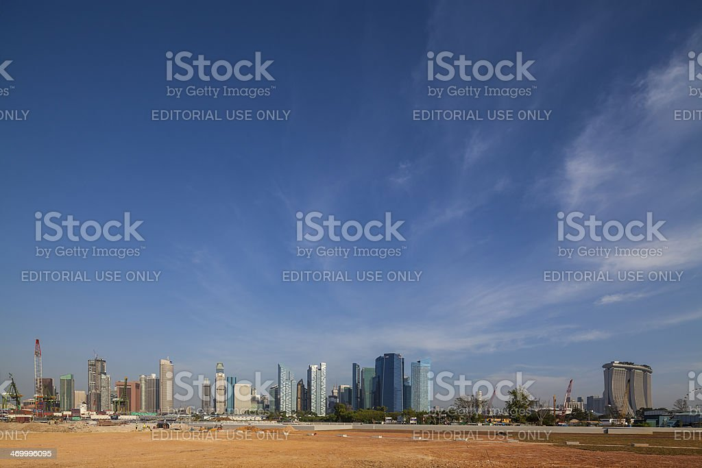 Singapore Central Business District Skyline - Stock Image stock photo