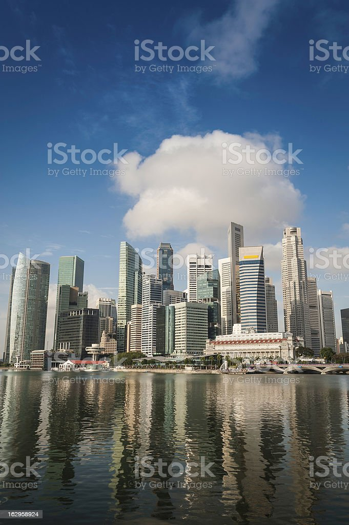 Singapore Central Business District skyscraper skyline royalty-free stock photo