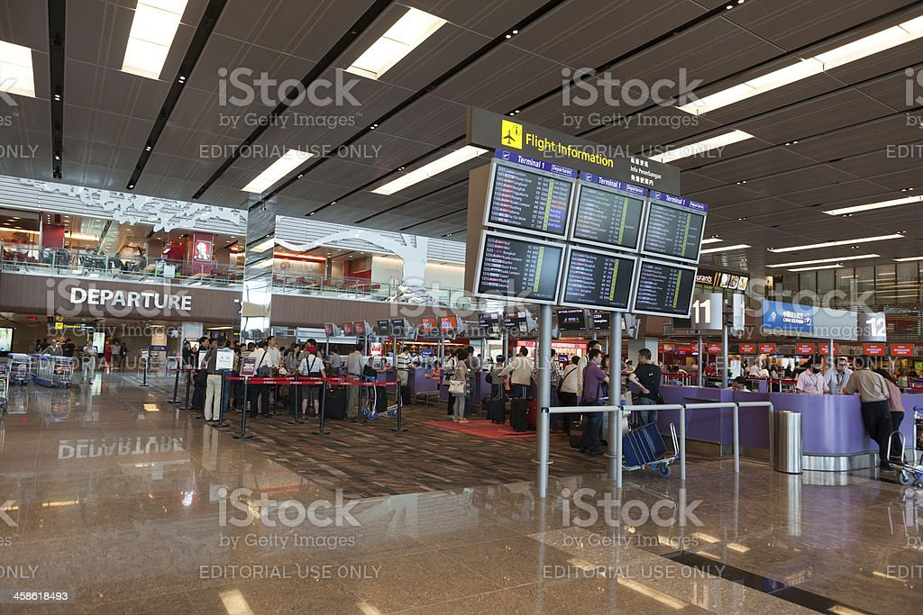 Singapore Changi Airport royalty-free stock photo