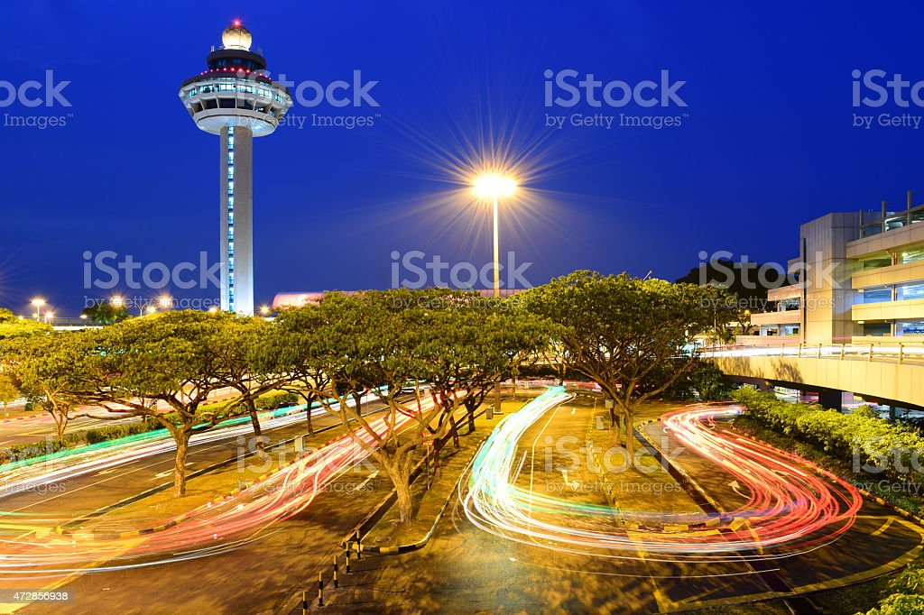 Singapore Changi Airport stock photo
