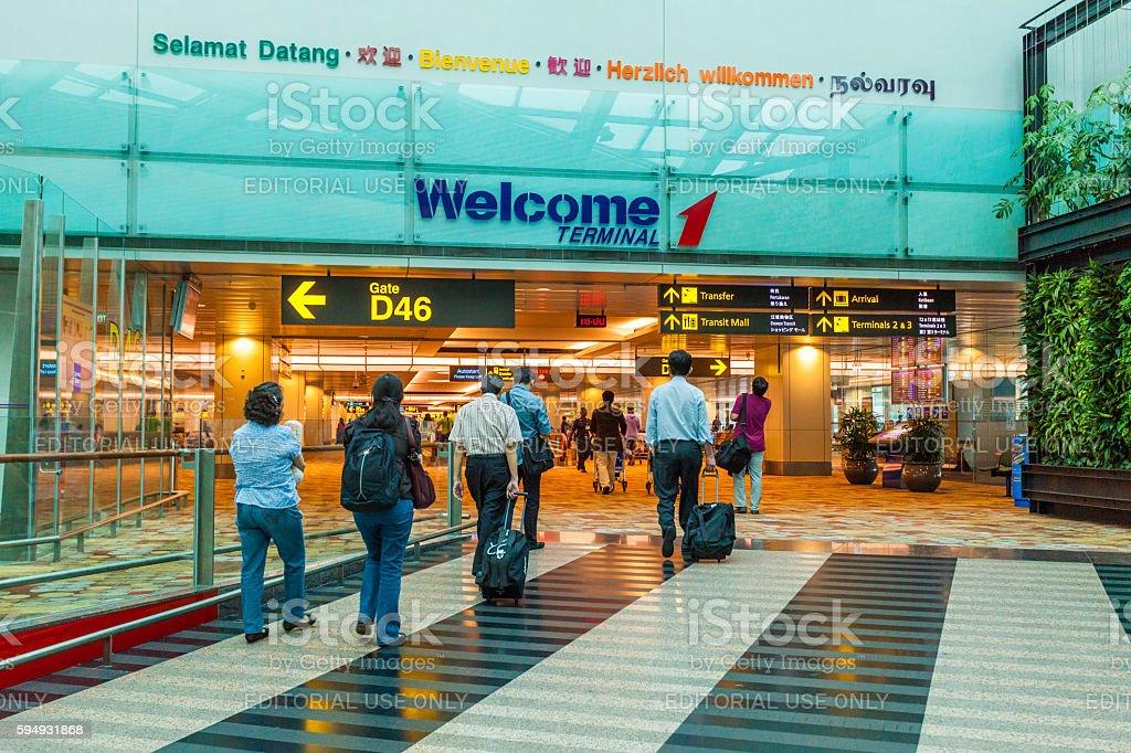 Singapore Changi Airport stock photo