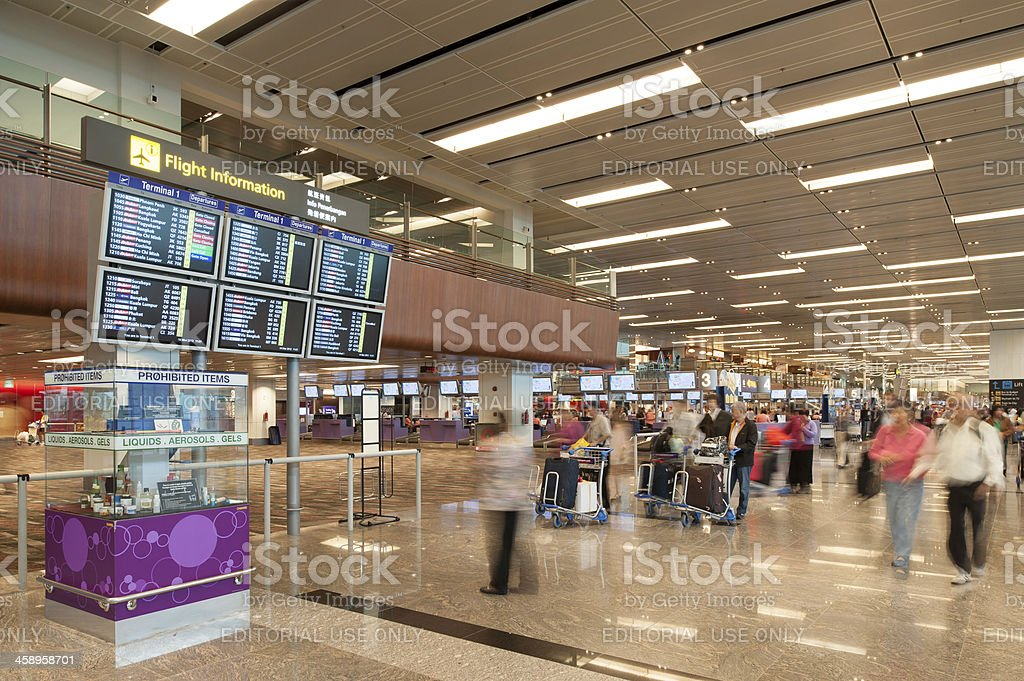 Singapore Changi Airport Terminal 1 royalty-free stock photo