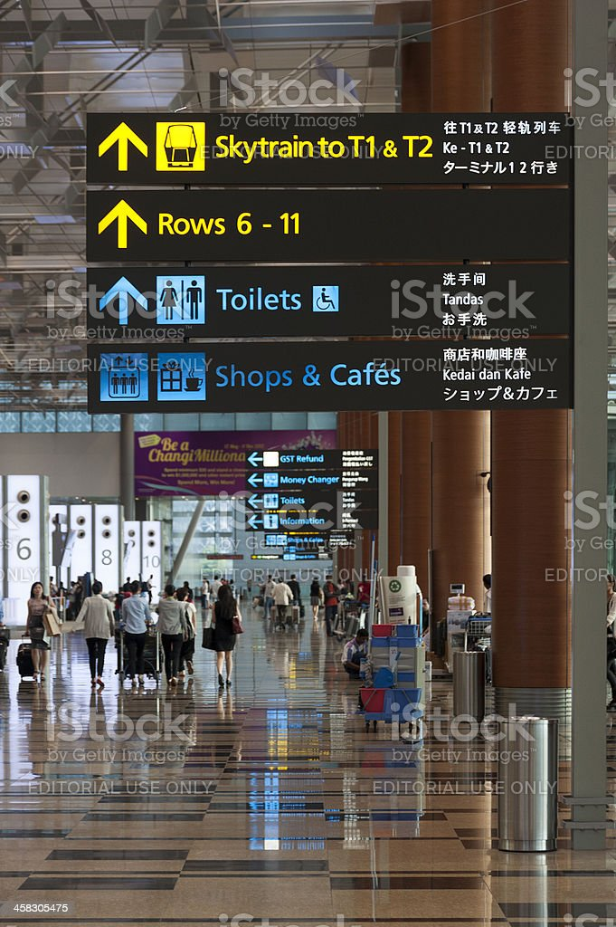 Singapore Changi Airport Terminal 3 royalty-free stock photo
