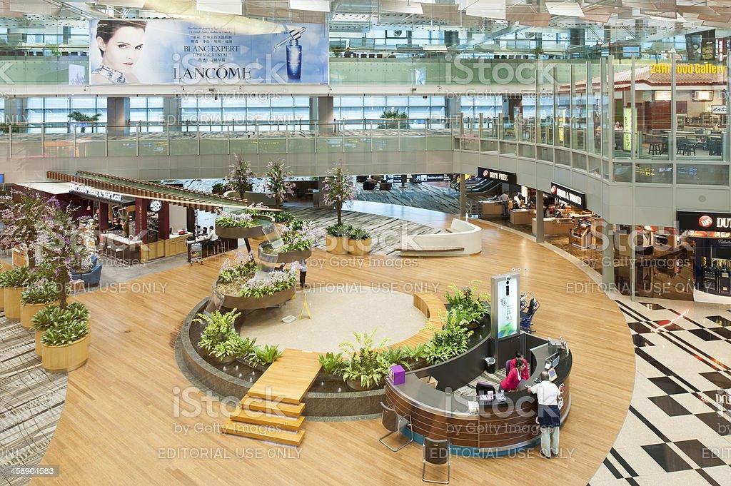 Singapore Changi Airport Terminal 3 royalty-free stock photo