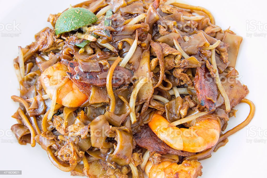 Singapore Char Kway Teow Closeup royalty-free stock photo
