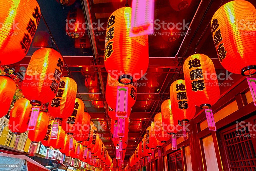 Singapore, Chinatown, lanterns. stock photo