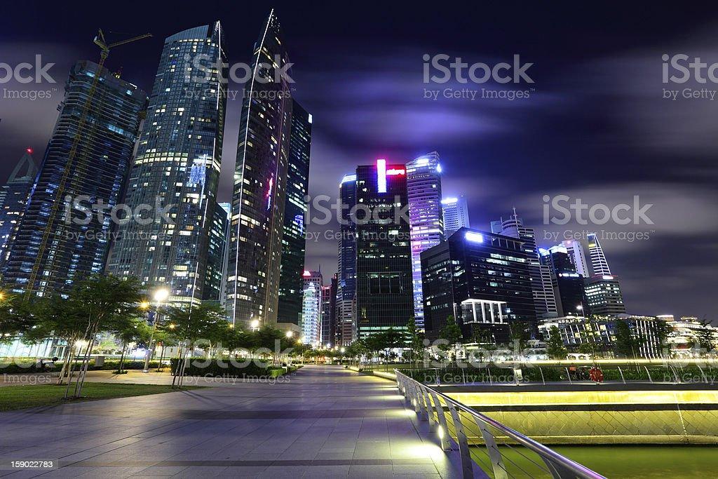 Singapore City at dusk royalty-free stock photo