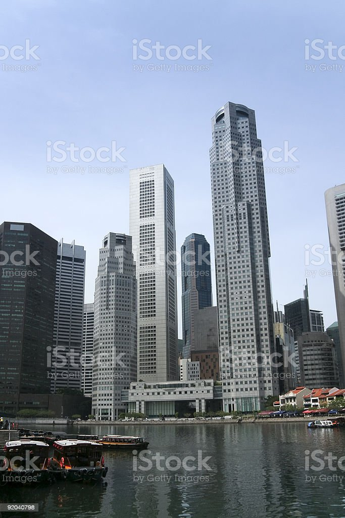 singapore city boat quay business district royalty-free stock photo