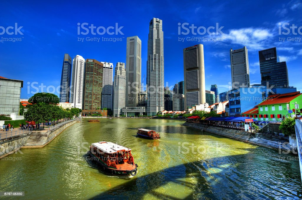Singapore City Centre & Singapore River stock photo