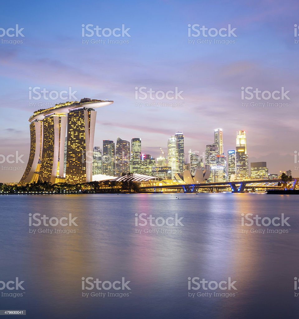 Singapore city downtown stock photo
