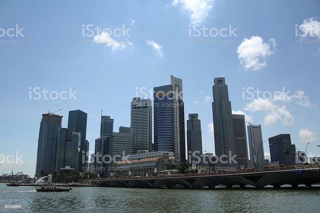singapore city financial district marina bay royalty-free stock photo