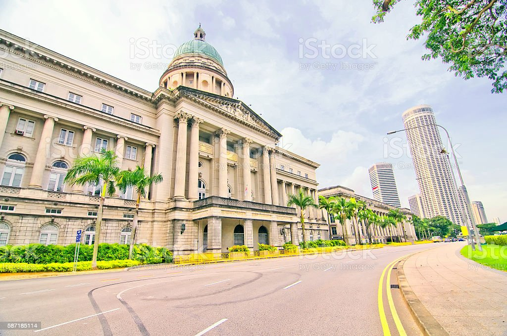 Singapore City Hall and Old Supreme Court Building stock photo