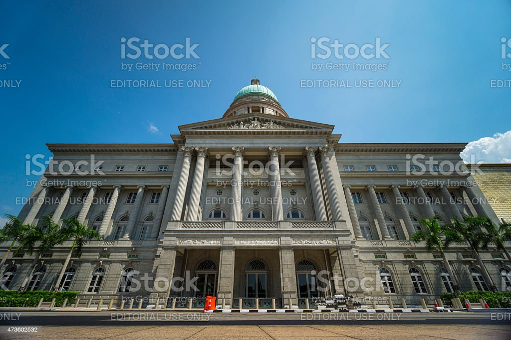 Singapore City Hall National Art Gallery stock photo