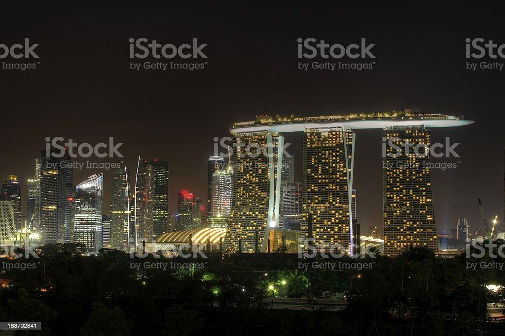 Singapore City Skyline at Night 3 stock photo