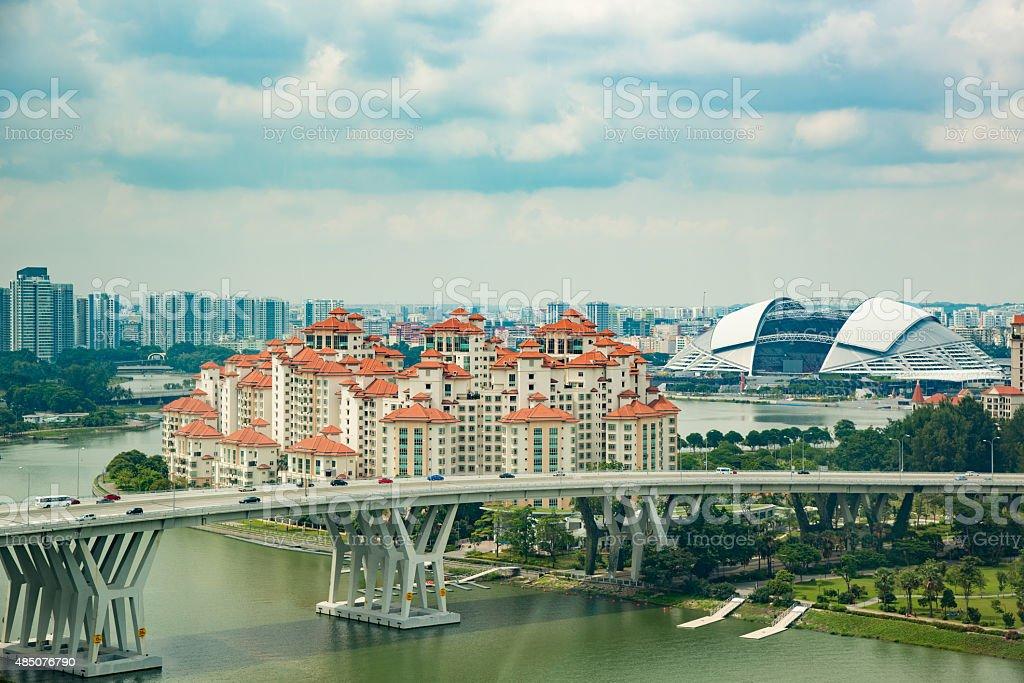 Singapore city skyline stock photo