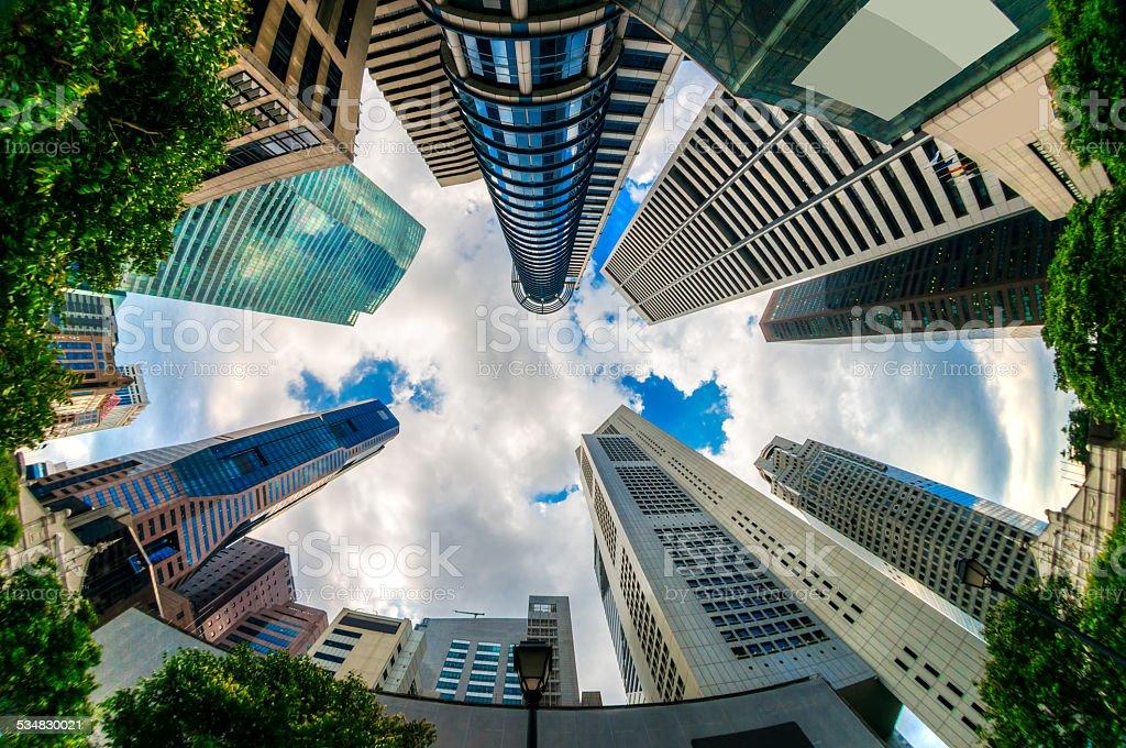 edificios de la ciudad de singapur foto de stock