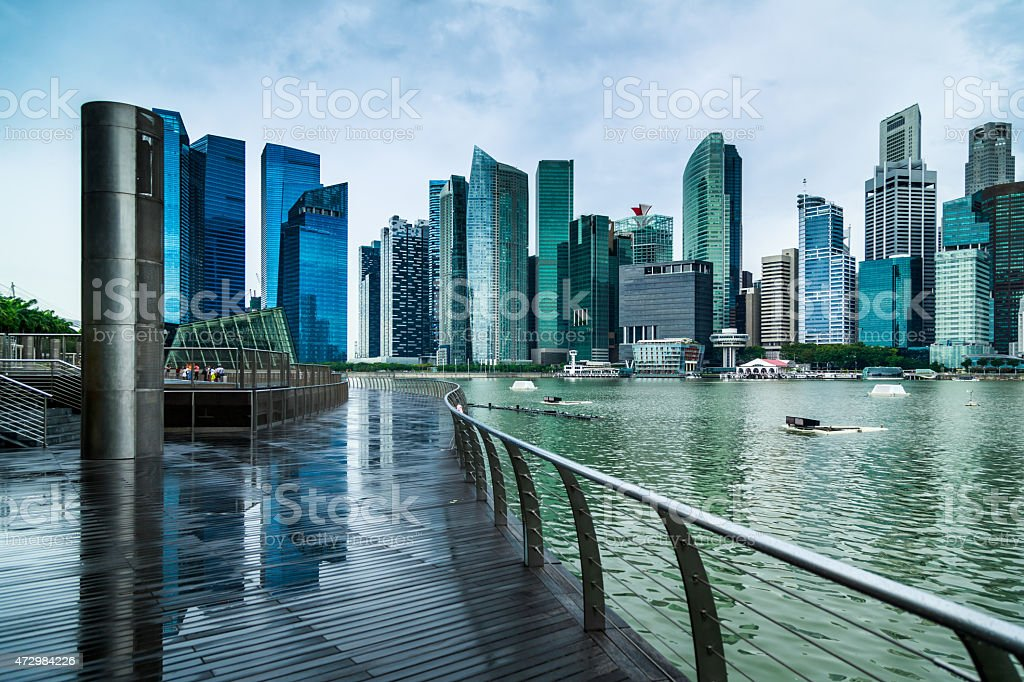 Singapore City Viewpoint stock photo