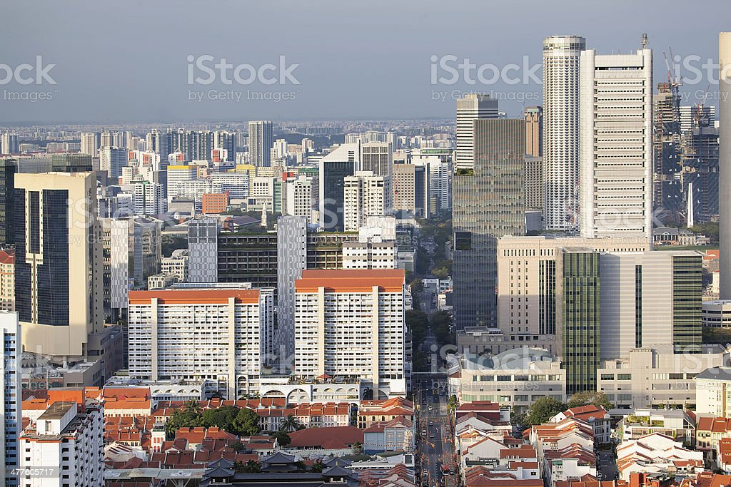 Singapore Cityscape with Chinatown royalty-free stock photo