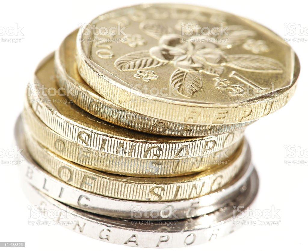 Singapore Coins royalty-free stock photo