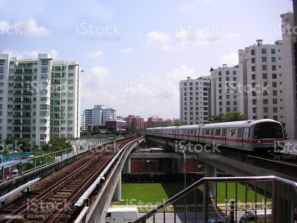 Singapore commuter train royalty-free stock photo