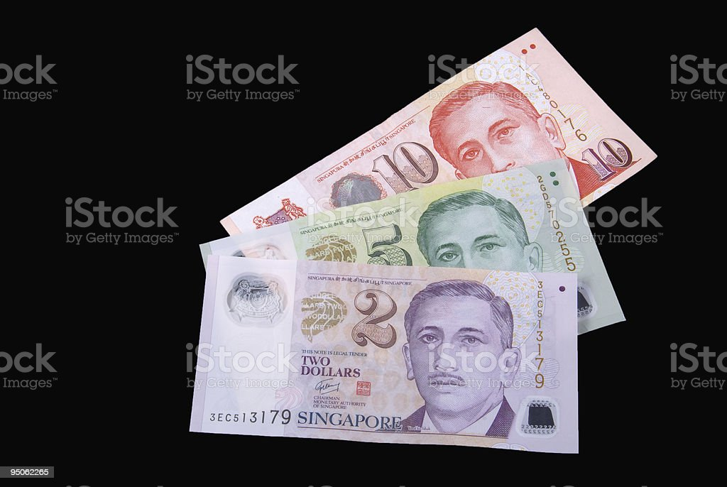Singapore Currency royalty-free stock photo