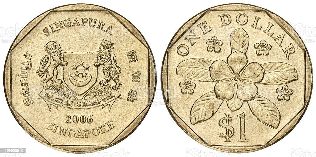 Singapore dollar on white background royalty-free stock photo