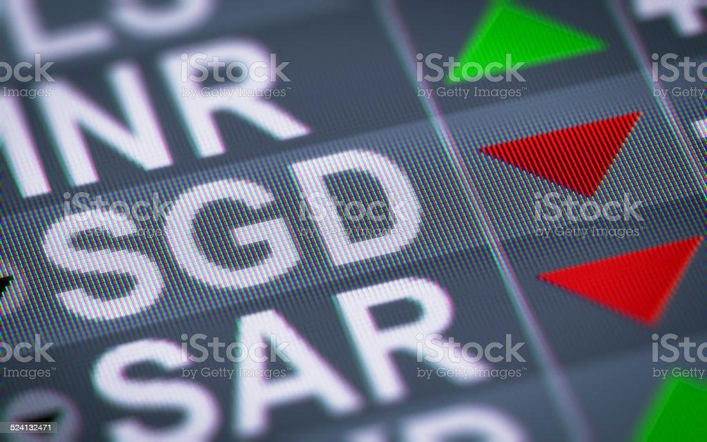 Singapore dollar stock photo