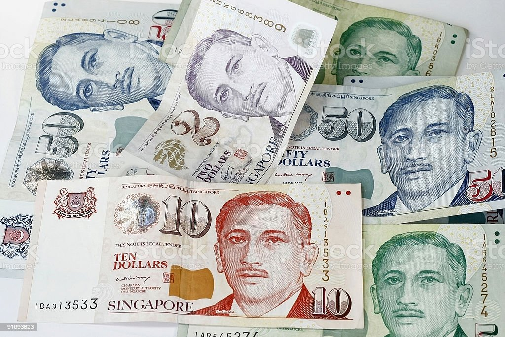 Singapore Dollar royalty-free stock photo
