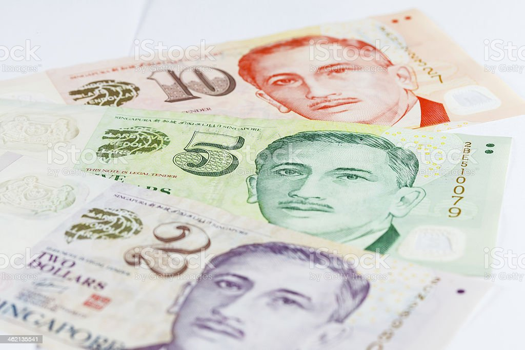 Singapore Dollars Note royalty-free stock photo