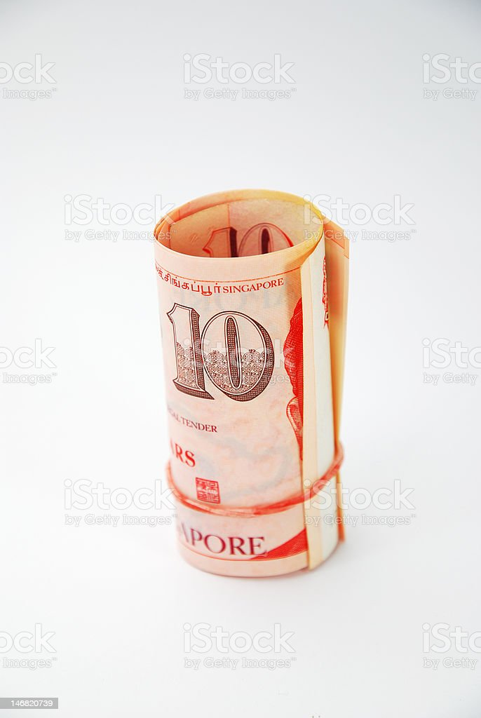 singapore dollars royalty-free stock photo