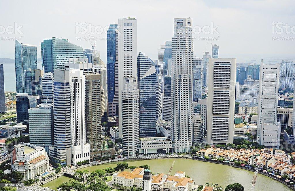 Singapore downtown royalty-free stock photo