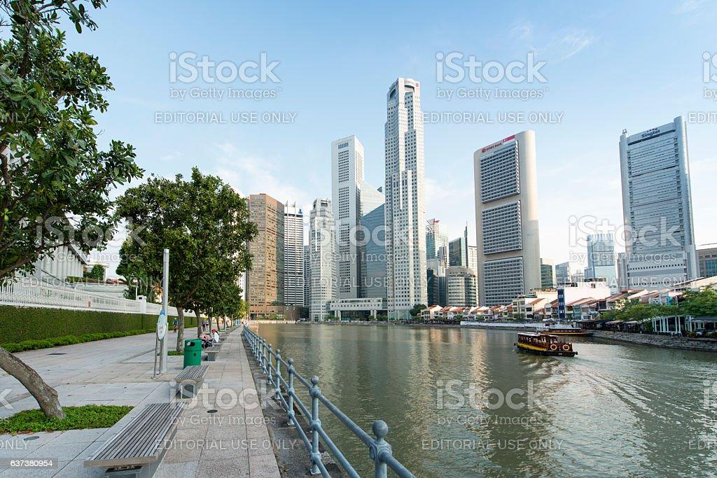 Singapore downtown stock photo