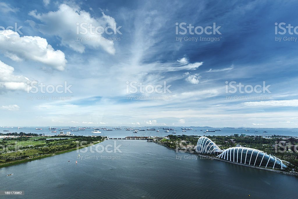 Singapore estuary. stock photo