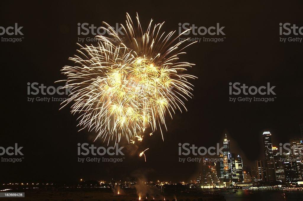 Singapore Firework @ Esplanade Bay (2006) stock photo