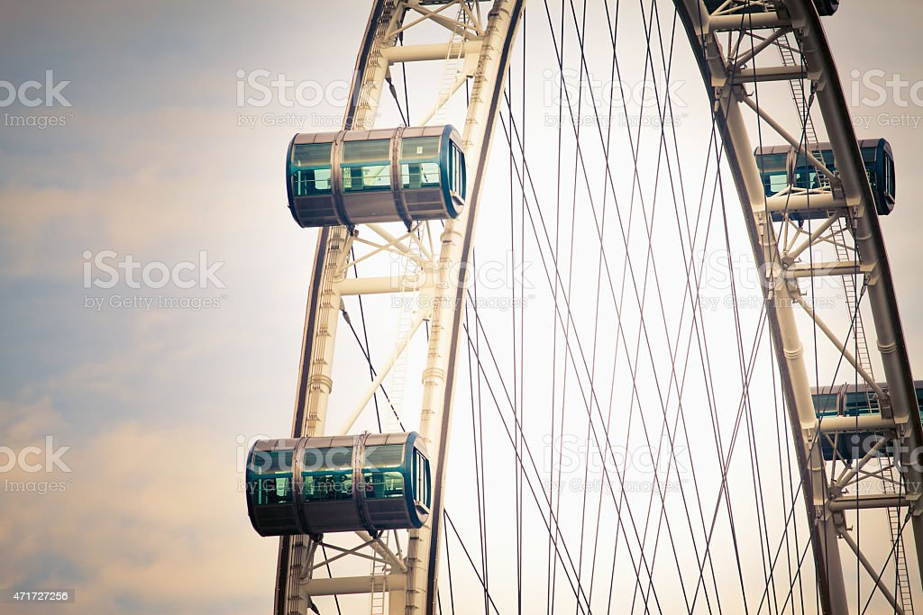 Singapore Flyer is famous landmark stock photo