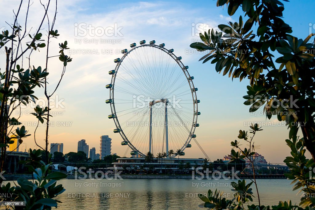 Singapore City, Singapore - June 23, 2014: Singapore Flyer stock photo