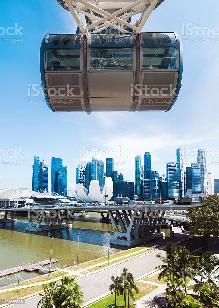 Singapore Flyer with Skyline stock photo