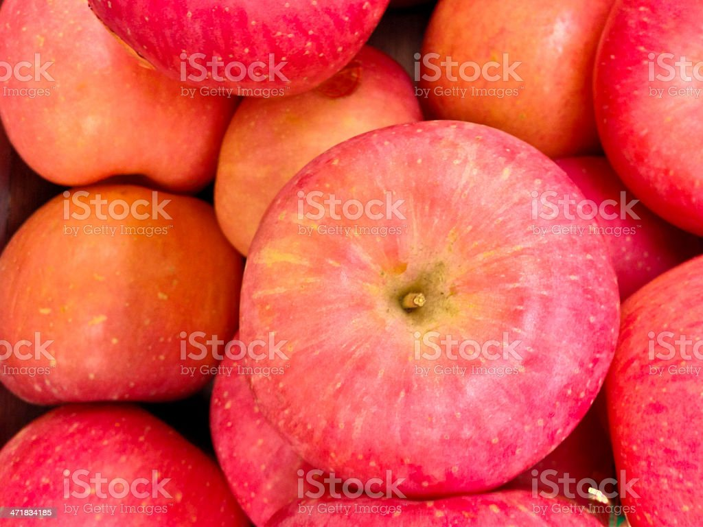Singapore, Fuji apples from China PRC. royalty-free stock photo