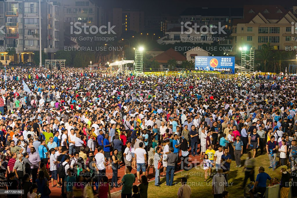 Singapore General Election 2015 stock photo