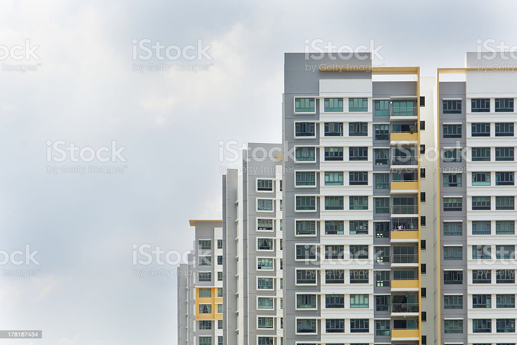 Singapore Government apartments royalty-free stock photo