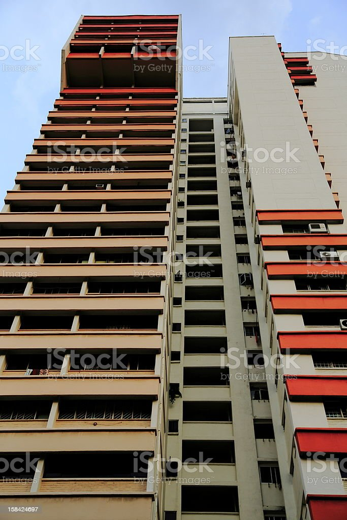 Singapore Housing at Serangoon stock photo