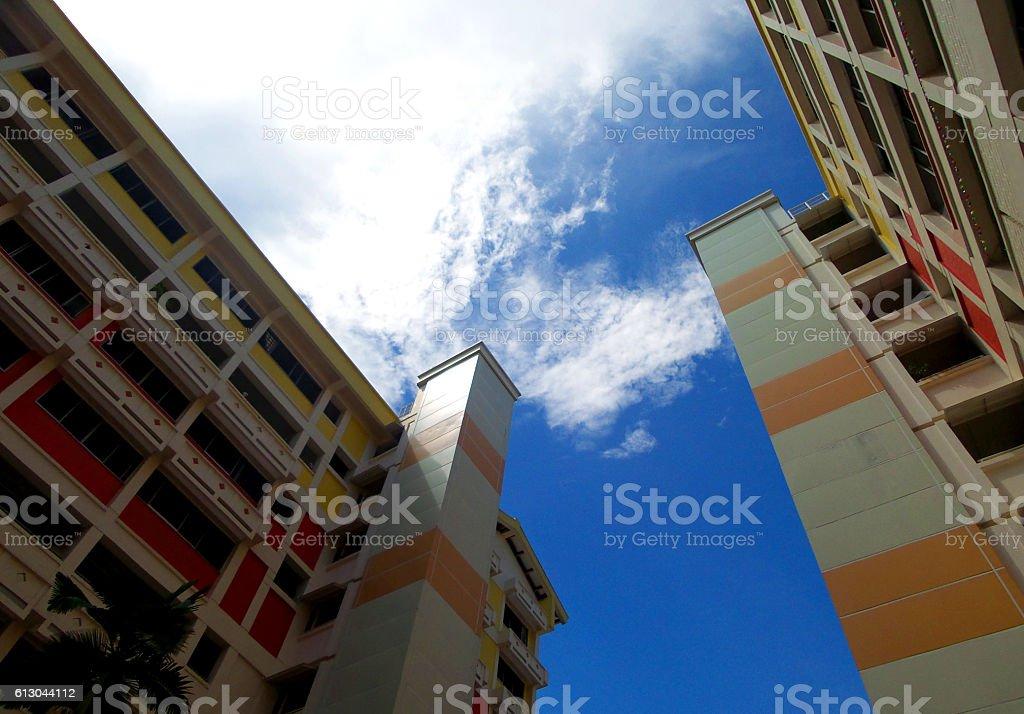 Singapore Housing Estate stock photo