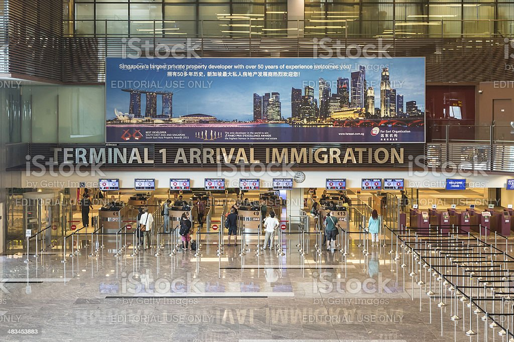 Singapore Immigration stock photo