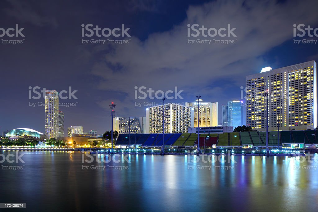 Singapore in the night royalty-free stock photo