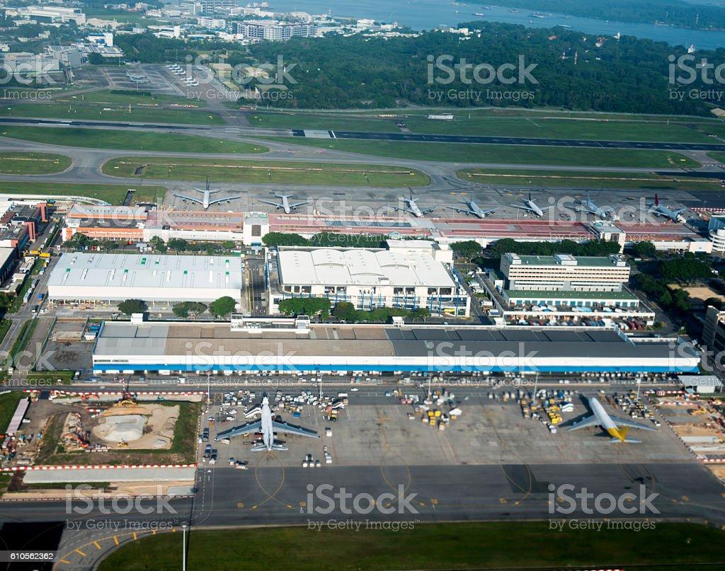 Singapore international airport stock photo